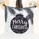 Christmas Decoration Cushion With Bauble