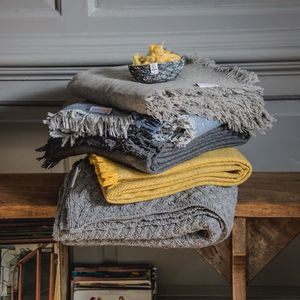 Recycled Wool Throws - blankets & throws