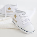 Personalised Canvas Gold Star Girls High Tops