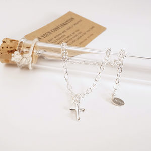 Cross Silver Charm Bracelet - jewellery gifts for children