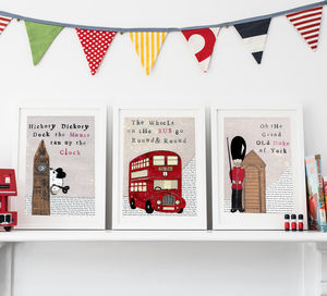 Set Of Three London Nursery Prints - architecture & buildings