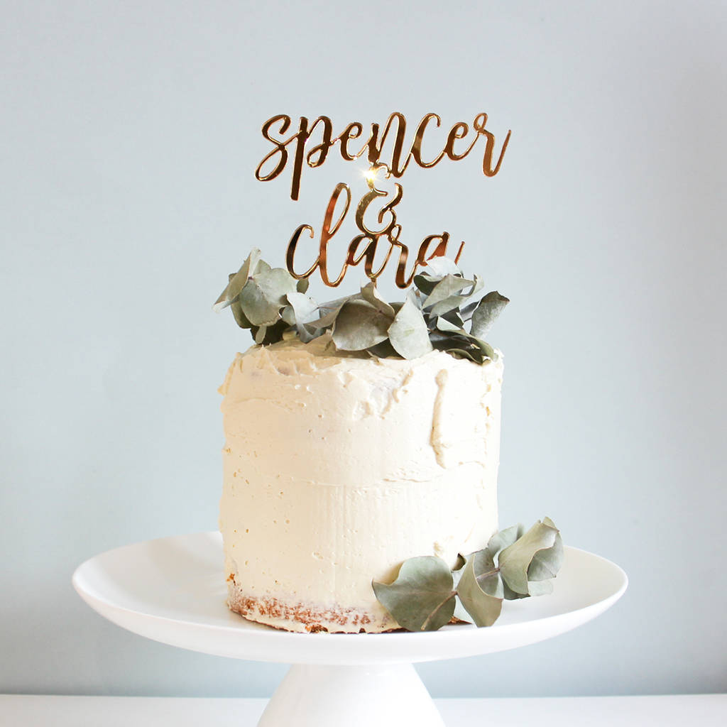 personalised wedding cake topper by fira studio | notonthehighstreet.com