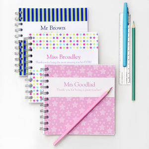 Personalised Teacher Notebook - teacher gifts