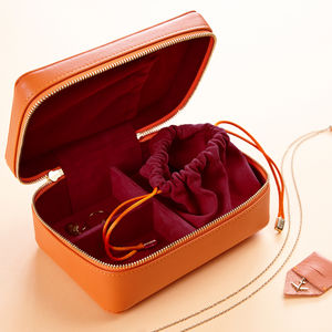 Personalised Luxury Leather Jewellery Case - luggage