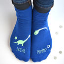 Personalised Mummy And Me Dinosaur Socks