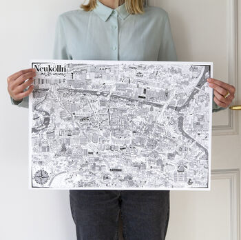 Neukölln Illustrated Map Print