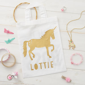 Personalised Unicorn Mini Tote Bag
