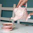 Alice In Wonderland Pink Teapot