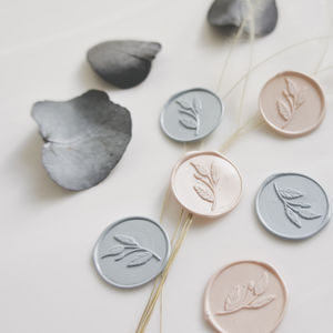 Peel And Stick Leaf Wax Seals - wax seals