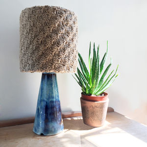 C2 C Detail Stitch Crochet Lampshade - office & study