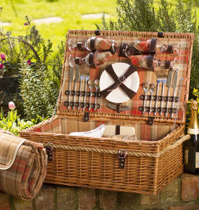 Grey Or Autumn Tartan Hamper For Four Or Six