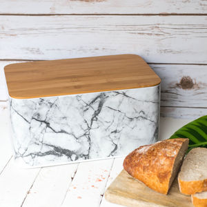 White Marble Bread Bin - kitchen