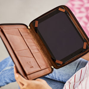 Leather Organiser For iPad - tech accessories for her