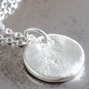 Personalised Large Round Disc Charm Necklace
