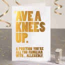 Funny Birthday Card In Gold Foil