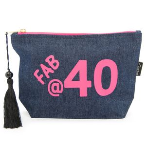 Denim 40th Birthday Bag - winter sale