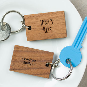 Personalised Wooden Gift Your Keys Keyring