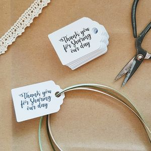 Pack Of 20 Personalised Tags - wedding stationery