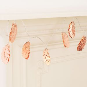Feather LED String Lights - christmas entertaining