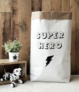 'Super Hero' Paper Storage Bag - storage & organisers