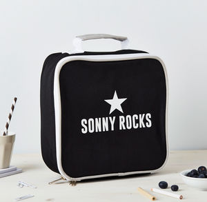 Boys Personalised Insulated Rocks Lunch Bag - personalised