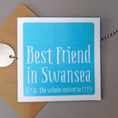 Personalised 'Best Friend In' Card