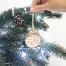 Wings Personalised Memorial Christmas Decoration