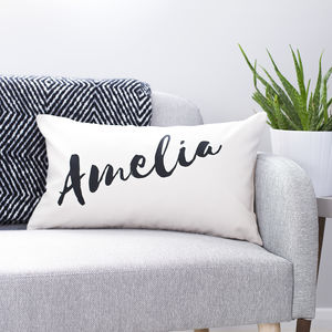 Personalised Name Cushion - living room