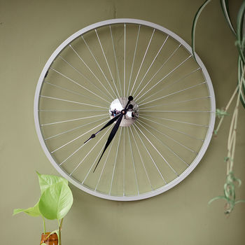Bicycle Wheel Clock 57 Cm Black