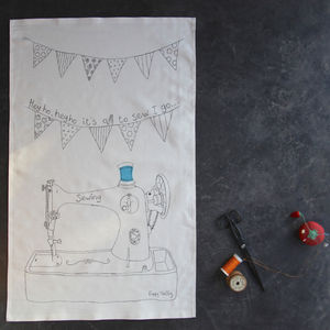 Sewing Machine Tea Towel