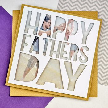 Personalised Photo Fathers Day Card 'Happy Fathers Day'