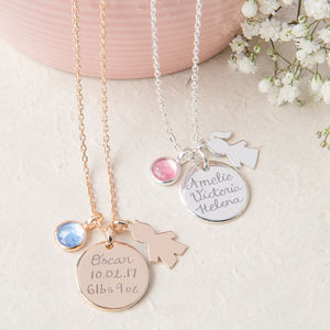 Personalised New Baby Necklace - necklaces & pendants