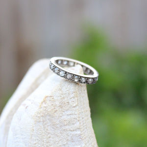 Salt And Pepper Diamond 18ct White Gold Eternity Ring