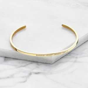 Silver Rose Or Gold Personalised Engraved Bangle - gifts for her