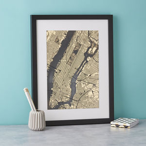 Golden Delicious New York Art - maps & locations