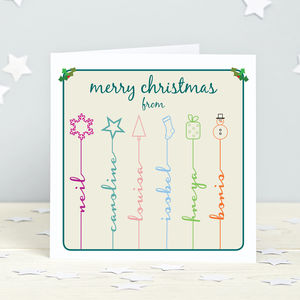 Personalised Icon Christmas Cards - christmas card packs