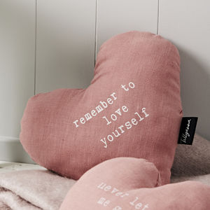 'Remember To Love Yourself' Cushion - whatsnew