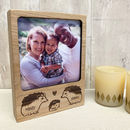 Personalised Wooden Hedgehog Family Photo Block