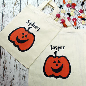 Personalised Halloween Trick Or Treat Bag - more