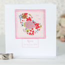 Personalised New Baby Girl Card