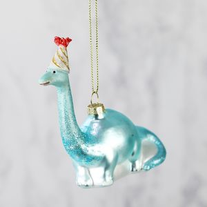 Party Dinosaur Bauble - christmas sale
