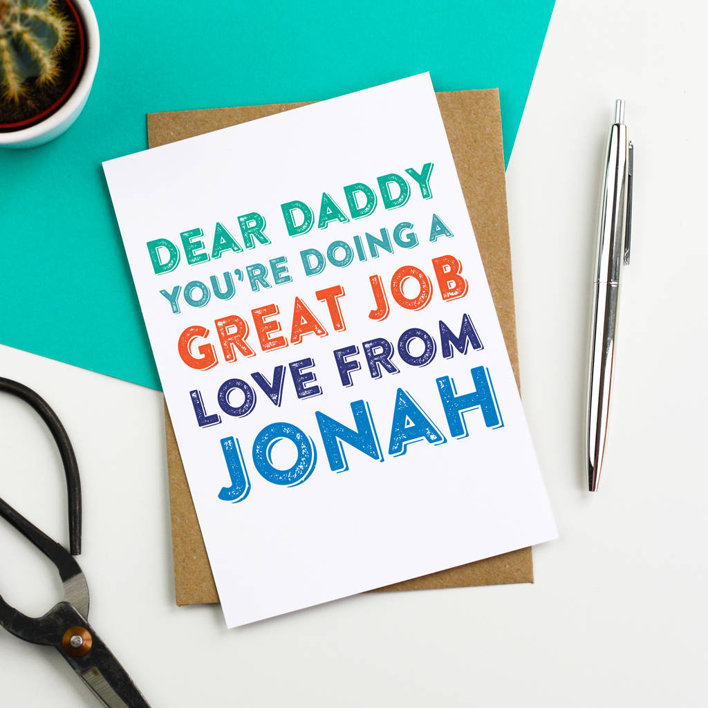 Dear daddy personalised fathers day greeting card by do you dear daddy personalised fathers day greeting card m4hsunfo