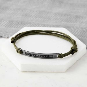 Personalised Initials Hidden Message Bracelet - bracelets & bangles