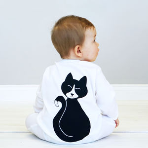 Cat Baby Sleepsuit - clothing
