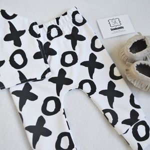 Unisex XO Print Baby And Toddler Leggings - the monochrome edit