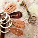 Personalised Copper Keyring 35 Design Stamps