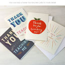 Add an optional thank you teacher card to your order