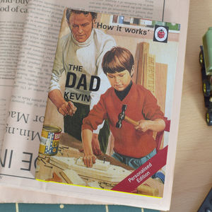 Personalised Ladybird Book Of Dad - dads to be