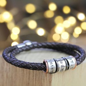Leather And Silver Story Bracelet - bracelets & bangles