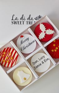Christmas Personalised Candy Covered Oreos - biscuits and cookies